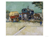 Gypsy Camp, c.1888 Giclee Print by Vincent van Gogh