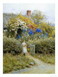 At the Cottage Gate Giclée-Druck von Helen Allingham