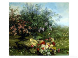 Summer Flowers on the River Bank Giclee Print by Jean Capeinick