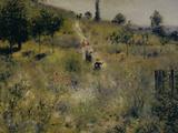 Chemin Montant dans les Hautes Herbes, c.1876 Giclee Print by Pierre-Auguste Renoir