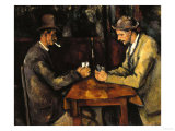 The Card Players, c.1890 Prints by Paul Cézanne