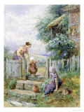 Learning to Walk Giclee Print by Myles Birket Foster