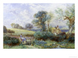 At the Pond Giclee Print by Myles Birket Foster