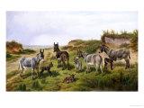 Family Friends Giclée-tryk af Charles Jones
