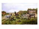 Family Friends Giclee Print by Charles Jones
