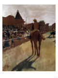 Racehorses at the Grandstand, c.1866 Prints by Edgar Degas