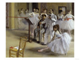 Ballet Room at the Opera in Rue le Peletier, c.1872 Giclee Print by Edgar Degas
