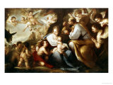 The Holy Family Giclee Print by Luca Giordano
