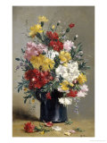Still Life of Carnations Giclee Print by Eugene Henri Cauchois