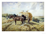 Harvesting in Picardy Giclee Print by R. Beavis