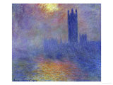 London Parliament in the Fog, c.1904 Posters by Claude Monet