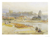 Punting at Windsor, c.1889 Giclee Print by Albert Goodwin