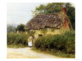 Rose Cottage Giclee Print by Helen Allingham