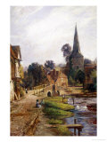 The Village Street, Eynsford, Kent Giclee Print by John W.b. Knight