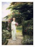 In the Rose Garden Giclée-Druck von Henry John Yeend King