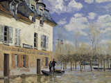La Barque During the Flood at Port-Marly, c.1876 Giclee Print by Alfred Sisley