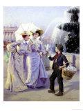 Parisian Street Urchin Giclee Print by Basile Lemeunier