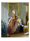Elegant Woman at Her Toilette Giclee Print by Michael Garnier