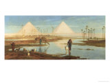 View of the Pyramids Giclee Print by Frederick Goodall