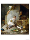 Feeding the Rabbits Giclee Print by Robert Farrier