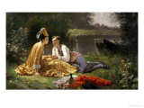 The Lover's Picnic Giclee Print by Auguste Hadamard