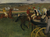 Racecourse, Amateur Jockeys, c.1877 Giclee Print by Edgar Degas