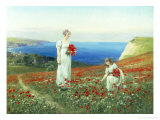 Gathering Poppies Giclee Print by Henry John Yeend King