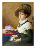 Afternoon Tea Giclee Print by Elizabeth S. Guinness