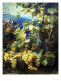 Still Life of Grapes Giclee Print by Alexis Kreyder