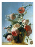 Still Life of Roses in a Basket Giclee Print by Jean Jacques Bachelier