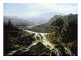 Romantic Landscape Giclee Print by Edouard De Vigne
