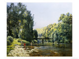 Summer's Day on the River Giclee Print by Emile Cagniart