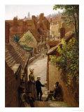 Street Scene in Penzance, Cornwall Giclee Print by Frederick Barwell
