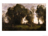 Dance of the Nymphs, c.1860 Giclee Print by Jean-Baptiste-Camille Corot