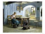 Making Apple Pie Giclee-vedos tekijänä Gustav August Hessl