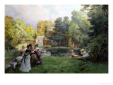 Summer Party at the Trianon Giclee Print by Emile-Charles Dameron