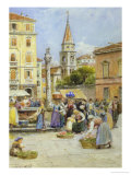 The Market Place Giclee Print by Ebenezer Wake Cook