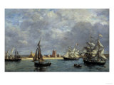 The Port of Camaret, c.1872 Giclee Print by Eugène Boudin