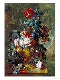Rich Still Life of Flowers Giclee Print by Jan van Huysum