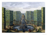 Design for a Princely Water Garden Giclee Print by Paul Decker