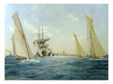 Two Thirty Footers Beating Back Giclee Print by Charles Dixon