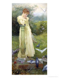 Feeding the Doves Giclee Print by Edward Killingworth Johnson