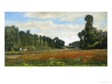 The Poppy Field Giclee Print by Hippolyte Delpy