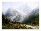 View of Chamonix and Mont Blanc Giclee Print by Joseph Jansen