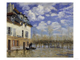 La Barque During the Flood at Port-Marly, c.1876 Print by Alfred Sisley