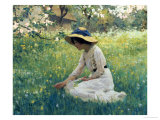 Spring Flowers Giclee Print by Arthur Hacker