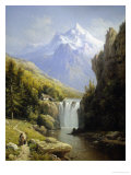 View of the Johannisberg, Austria Giclee Print by Charles Kuwasseg
