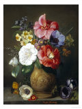 Still Life of Camellias and Anemone Giclee Print by Marc Henry