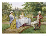 Reading in the Garden Giclee Print by William A. Breakspeare