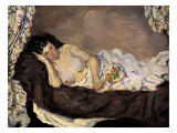 Reclining Nude, c.1877 Prints by Armand Guillaumin
